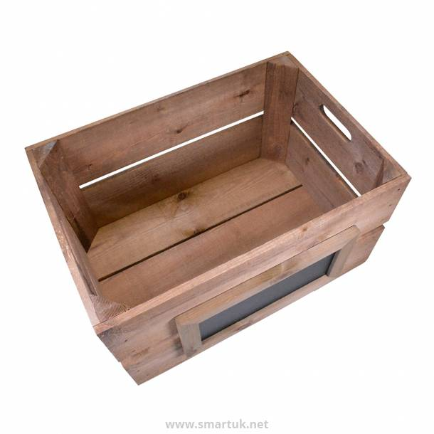 Wooden Crate Retail and Menu Holder