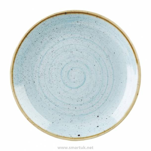 Stonecast Large Coupe Plate Duck Egg Blue