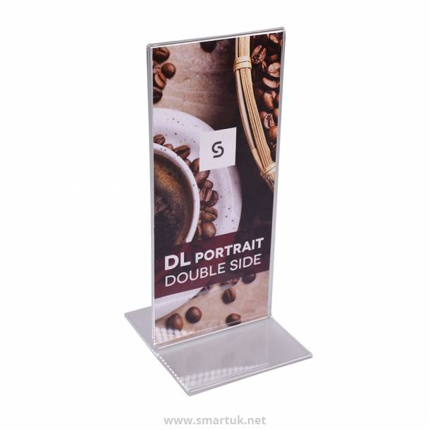 Acrylic Double Sided Menu Holders - Portrait