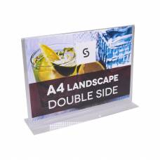Acrylic Double Sided Menu Holders - Landscape