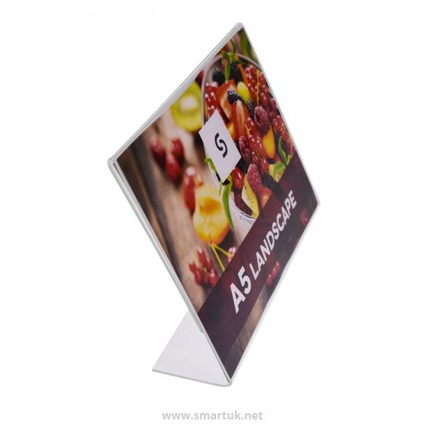 Acrylic Single Side Menu Holders - Landscape