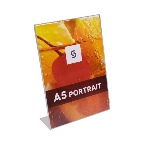 Acrylic Single Side Menu Holders - Portrait