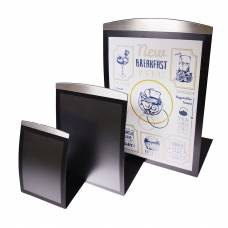 Curved Metal Menu Holders - Black