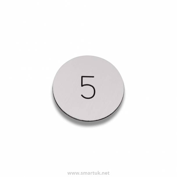 Disc Table Number - Metal Effect