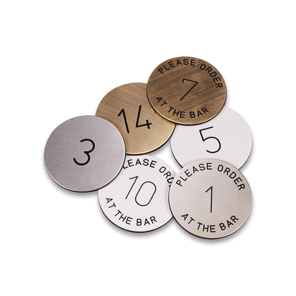 Metal Disc Table Numbers Smart Hospitality Supplies