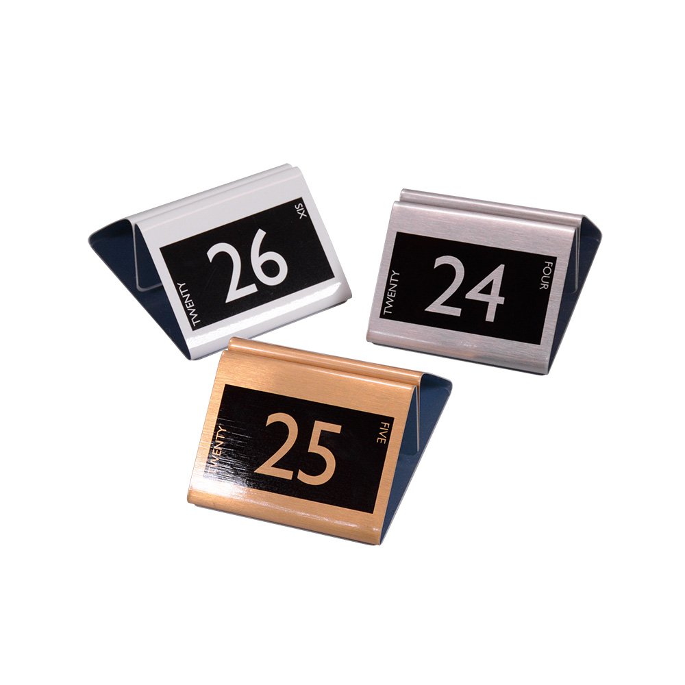 Disc Table Number Metal Effect The Smart Marketing Group - Restaurant table markers