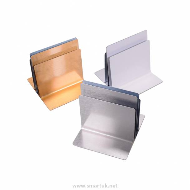 Plain Triple Channel Metal Menu Holders