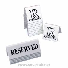 White Table Signs Range - Reserved