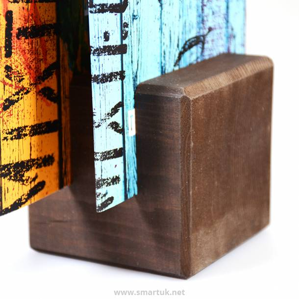 Wooden Block - Menu Holder