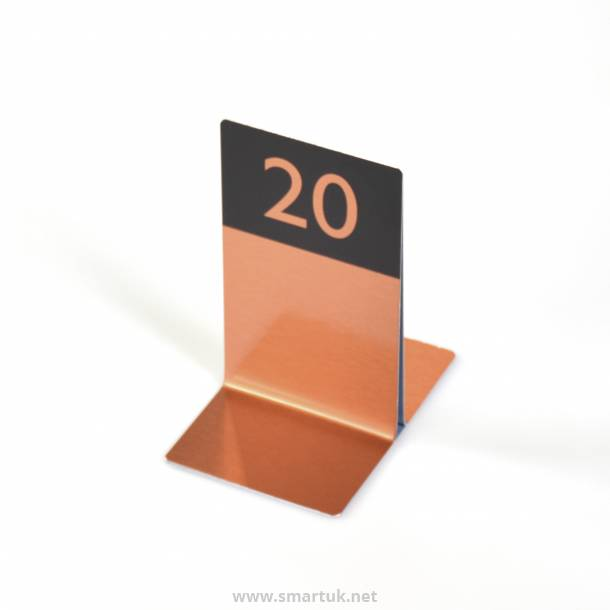 Numbered Single Channel Metal Menu Holders