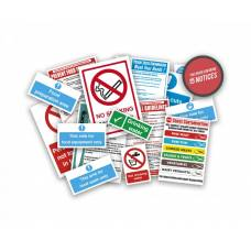 Health and Safety Signs Pack - Food Preparation Area