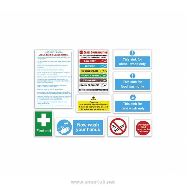 Health and Safety Signs Pack - Junior Catering Starter Pack