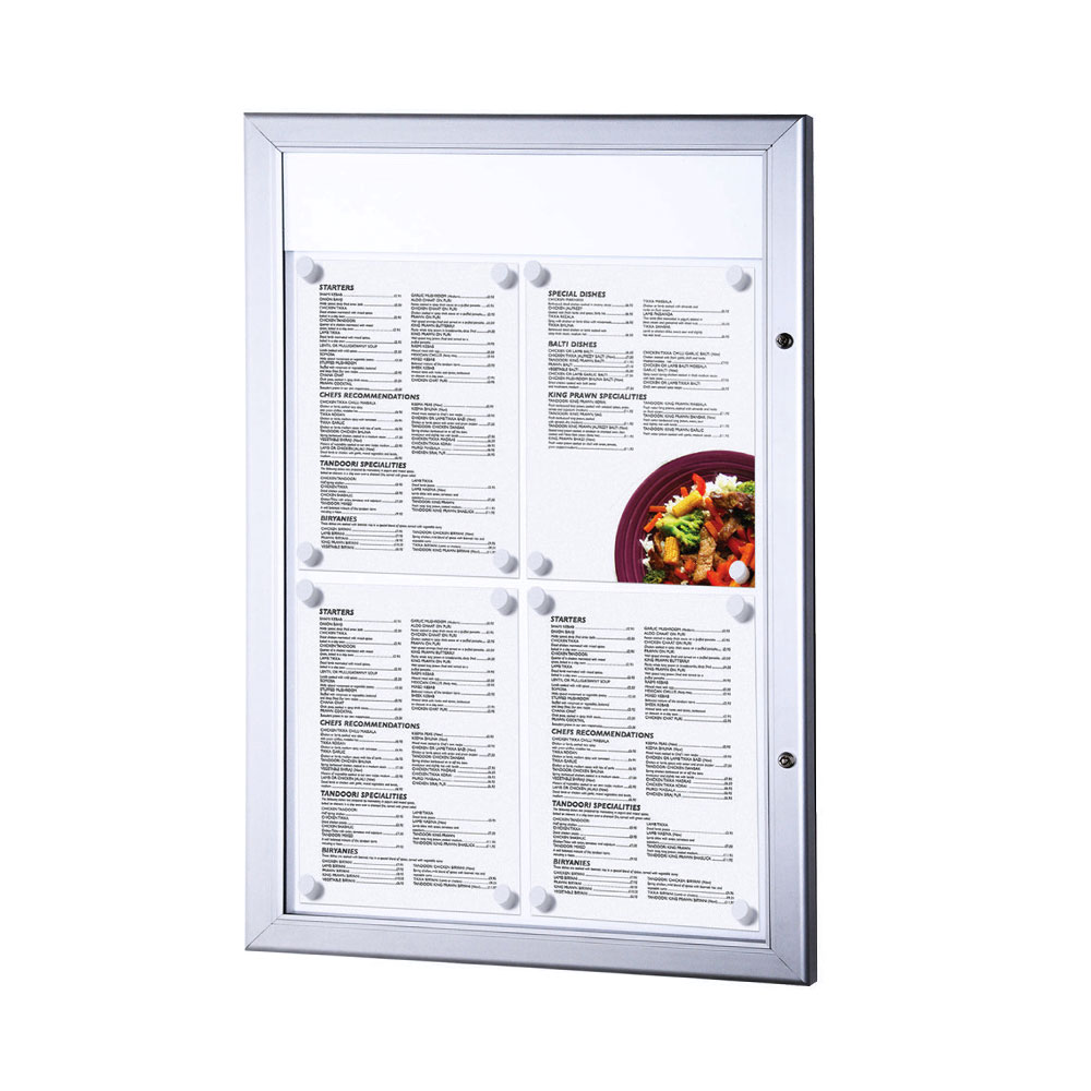 Wall Mounted Outdoor Menu Display Case Smart Hospitality