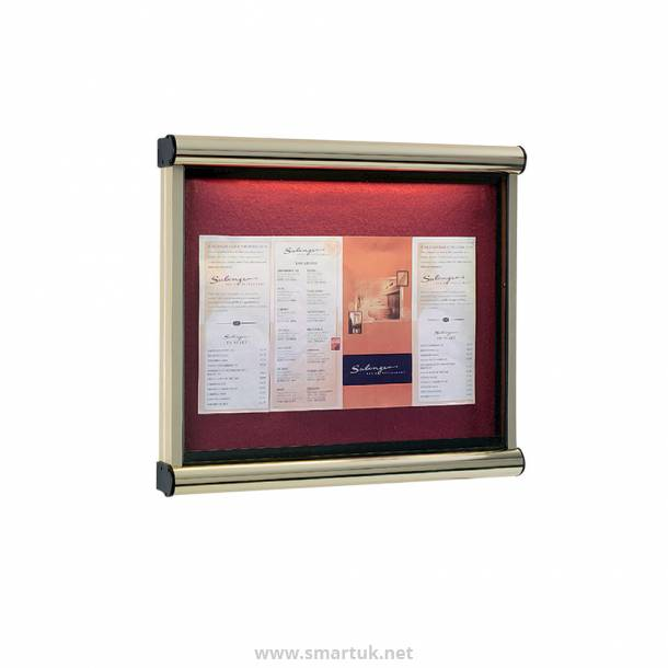 Premium wall mounted outdoor menu display case smart hospitality supplies for Exterior display case
