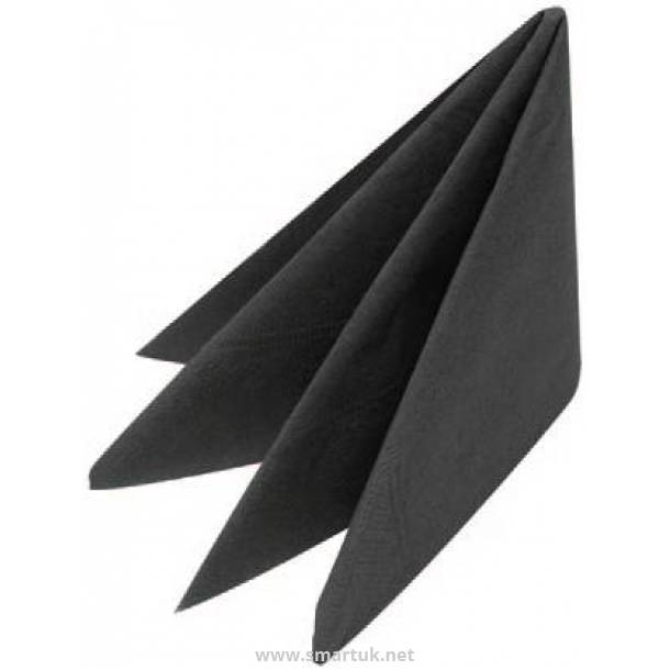 2 Ply Cocktail Napkins Black 25cm