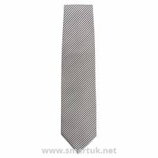 Uniform Works Tie Silver and Black Fine Stripe