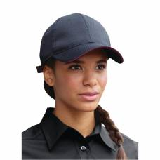 Chef Works Cool Vent Baseball Cap Black with Merlot