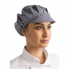 Whites Peaked Hat Blue and White Check