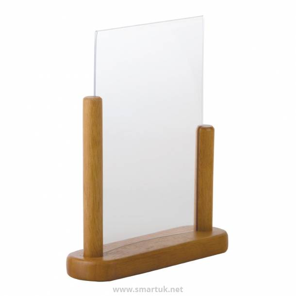 Securit Acrylic Menu Holder With Wooden Frame A5