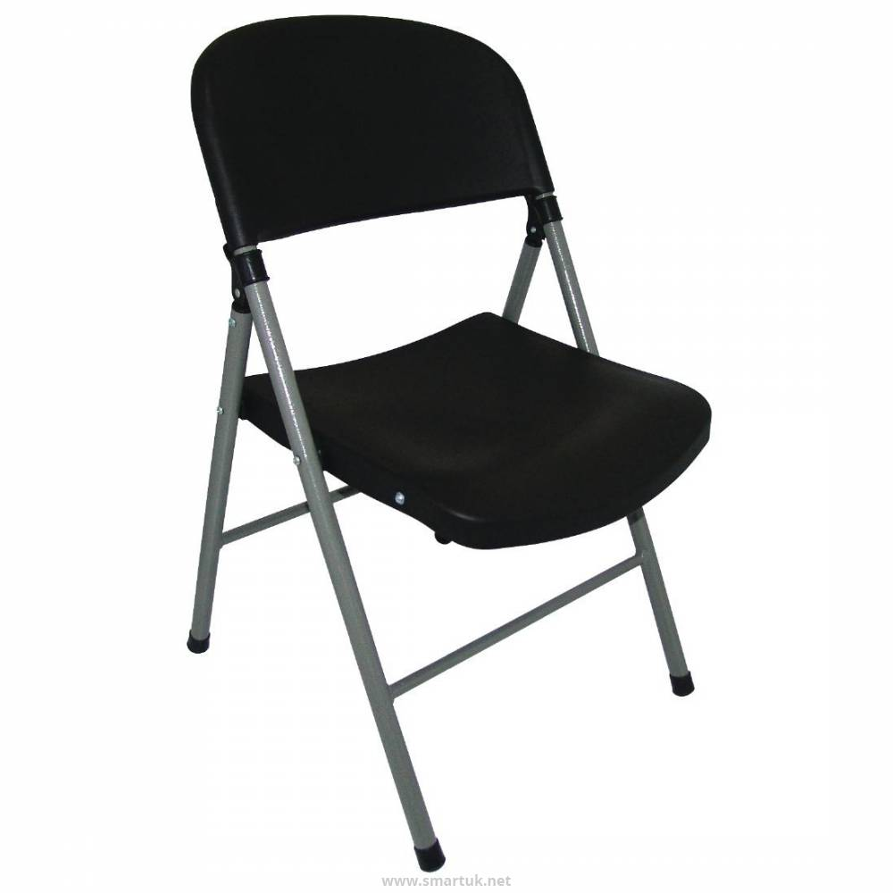 b5427592299 Bolero Foldaway Utility Chairs Black (Pack of 2) by Bolero-CE693 - Smart  Hospitality Supplies