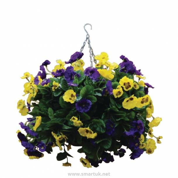 "22"" Purple and Yellow Pansy Ball"