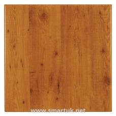 Werzalit Pre-drilled Square Table Top  Pine 700mm