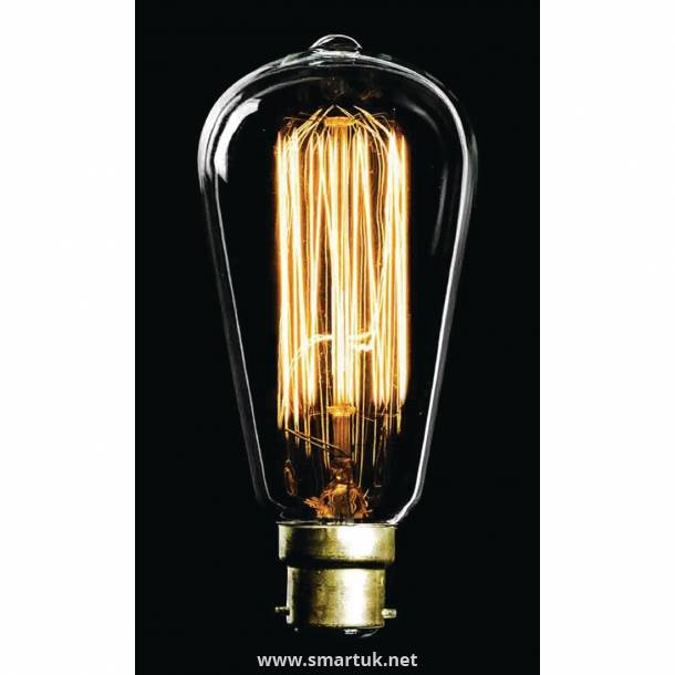 Crystalite CFL Antique Squirrel Cage GLS Bulb Bayonet Cap 40W