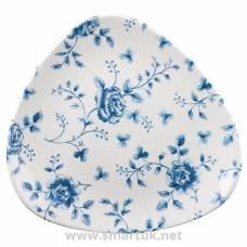 Churchill Vintage Prints Blue Rose Chintz Pattern Triangle Plate 229mm