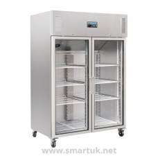 Polar Upright Double Glass Door Gastro Refrigerator 1200Ltr