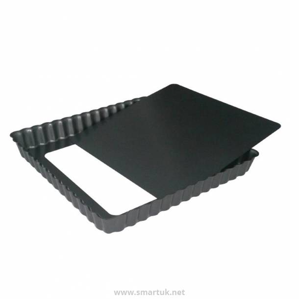 DeBuyer Non-Stick Square Tart Mould With Removable Base 18 cm