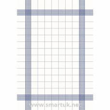 Duni Bistro Towel Napkin 38x54cm in Blue Check on White (Pack of 250)