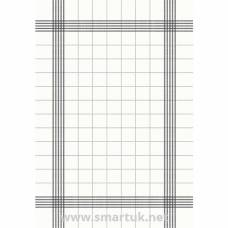 Duni Bistro Towel Napkin 38x54cm in Granite Grey Check on White (Pack 250)
