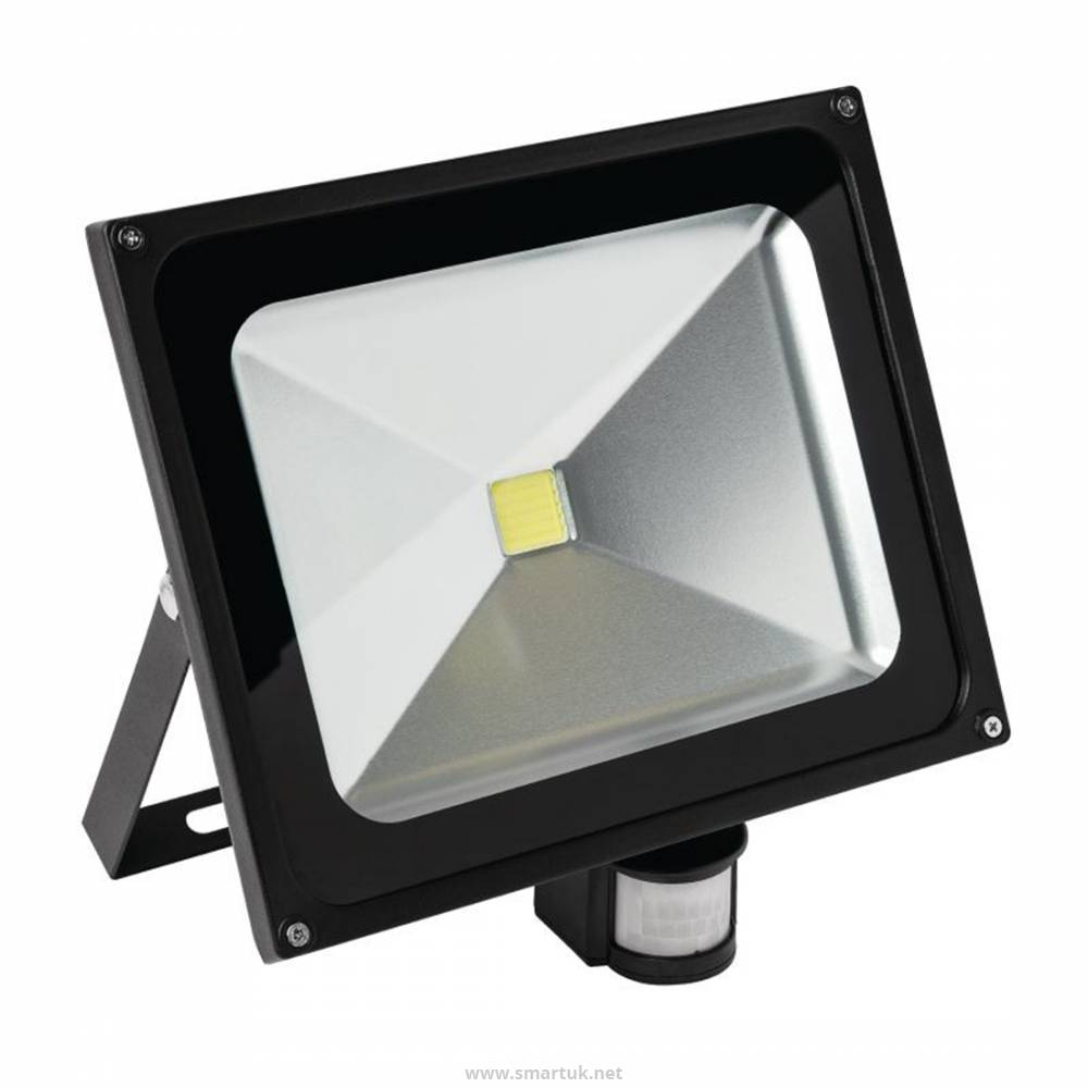Status Genoa Led Floodlight With Pir Motion Detector 50w By De485 Smart Hospitality Supplies