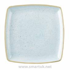 Churchill Stonecast Deep Square Plate Duck Egg Blue 260mm