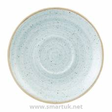 Churchill Stonecast Round Cappuccino Saucers Duck Egg Blue 185mm