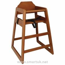 Bolero Wooden Highchair Dark Wood Finish