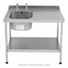Franke Sissons Stainless Steel Sink Right Hand Drainer 1000x600mm