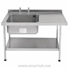 Franke Sissons Stainless Steel Sink Right Hand Drainer 1200x650mm