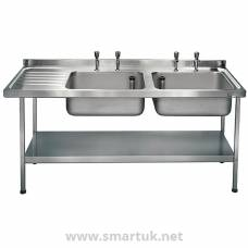 Franke Sissons Stainless Steel Sink Double Left Hand Drainer 1800x650mm