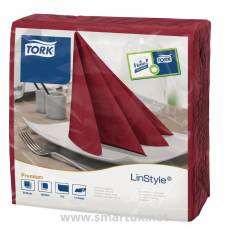 Tork Linstyle Dinner Napkin Burgundy 400mm
