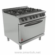 Falcon Dominator Plus 6 Burner Oven Range G3101D Natural Gas with Feet