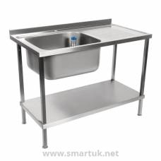 Holmes Self Assembly Stainless Steel Sink Right Hand Drainer 1000mm