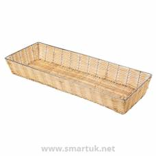 Wicker Metal Frame Basket