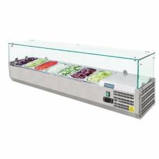 Polar Refrigerated Countertop Servery Prep Unit 7x 1/4GN