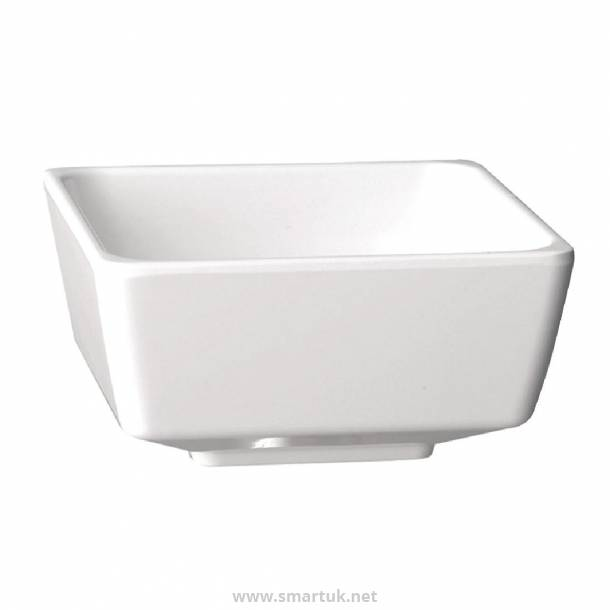 APS Float White Square Bowl 10in