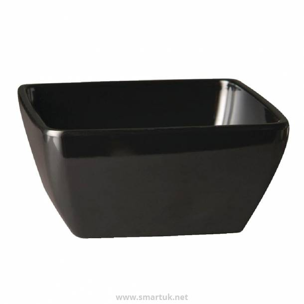 APS Pure Melamine Black Square Bowl 250mm