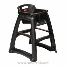 Rubbermaid Sturdy Black High Chair