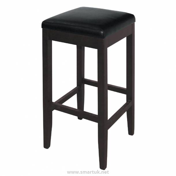 Bolero Faux Leather High Barstools Black (Pack of 2)