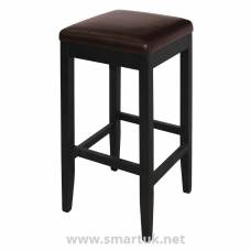 Bolero Faux Leather High Barstools Dark Brown (Pack of 2)