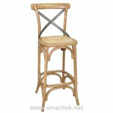 Bolero Wooden Barstool with Backrest